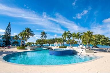 Beachfront pool area