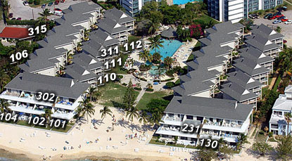 Sunset Cove Condo Locations